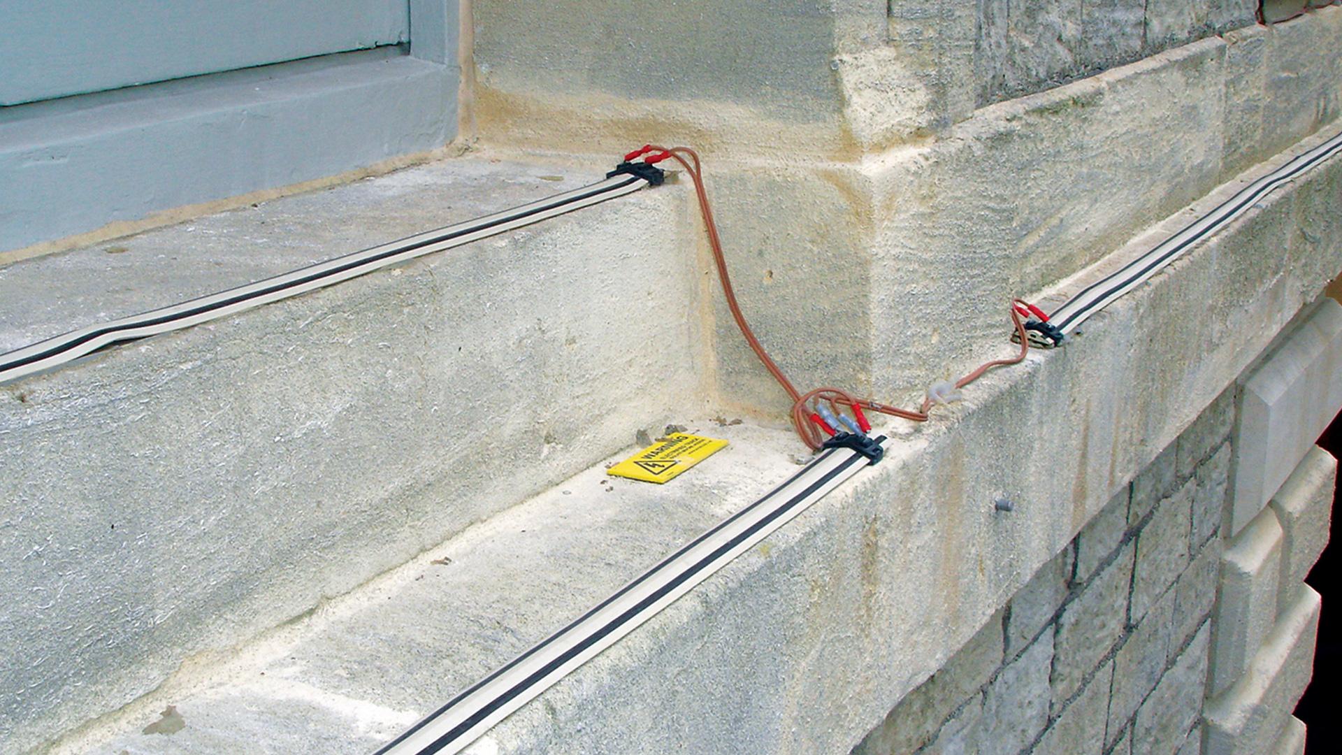 Elektrosystem zur Taubenabwehr